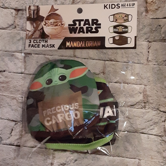 DISNEY'S BABY YODA/GROGU FACE MASKS SET OF 3